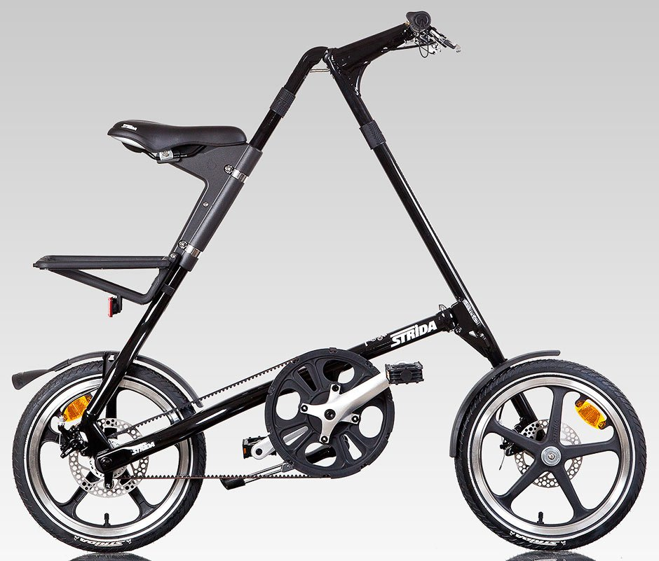 Strida Bici Pieghevole.Strida Strida Black